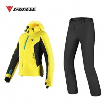 SARENNE LADY Jacket VIBRANT-YELLOW + 2° SKIN Pants BLACK [16/17]